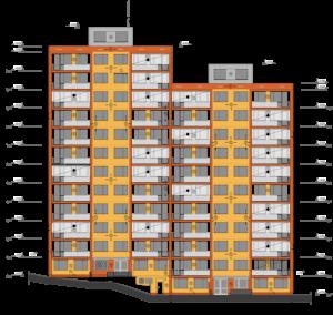 Revitalizace panelového domu - Záběhlice